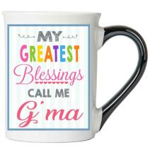 Cottage Creek G'Ma Gifts Large 18 Ounce Ceramic My Greatest Blessings Call Me G'ma Coffee Mug/Blessed G'ma G'ma Mug Inspirational Gifts