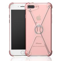 "ELEOPTION Creativity Ring Clamp for Phone 360 ° Rotating Kickstand Metal Ring Finger-Grip X Holder Stand Security with All-round Shock protection (For iPhone 6 Plus/6s Plus 5,5"", Rose Gold)"