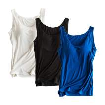 Alizeal 3 Pcs Women's Basic Solid Camisole Stretch Casual Tank Tops