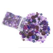 levylisa 500 PCS Mixed Bulk Purple Buttons Pack of Dark Purple Buttons Purple Plum Fairy, Purple Splash, Sewing, Wall Art,Knitting Patterns, Crochet, Collage, Scrapbooking, Button Art