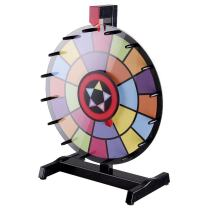 "WinSpin 15"" Tabletop Editable Color Prize Wheel 2 Circles Spinning Review Game"