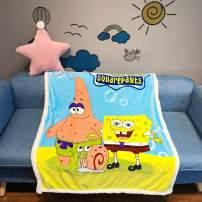"EIIORPO Cartoon Sponge Bob Sherpa Throw Blanket Super Soft Cozy Plush Fleece Blanket for Bed Couch Chair Baby Crib Living Room(40""X 55"", Sponge Bob) …"