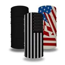 Neck Gaiters American Flag Bandana Mask Balaclavas Tube Headwear Black for Cycling Fishing Outdoor Men Women