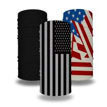 Neck Gaiters American Flag Bandana Mask Balaclavas Tube Headwear Black for Cycling Fishing Outdoor Men Women