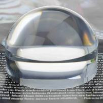 Oande 3.1 Inch Paperweight Magnifier Mirror Crystal Clear Dome Magnifying Glass for Map Magnifying and Reading Aid