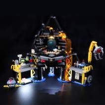 BRIKSMAX Led Lighting Kit for Garmadon's Volcano Lair - Compatible with Lego 70631 Building Blocks Model- Not Include The Lego Set