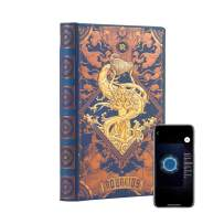 """AstroReality: Zodiac 12 Constellation Astrology Notebook, Interactive Augmented Reality Experience, 8x5"""", 192 Pages Writing Pad Journal, Unruled Embossed Hardcover (Aquarius)"""