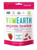 YumEarth Organic Gluten Free Strawberry Licorice, 5 Ounce, 12 pack