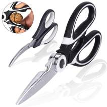 2Pack Kitchen Scissors Poultry Shears Heavy Duty Stainless Steel Multipurpose Utility Food Meat Vegetable Seafood Crab Scissors