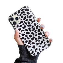 YTanazing iPhone 11 Leopard Case, Cute White Leopard Print Pattern Case Fashion Luxury Cheetah Ultra-Thin Soft TPU Silicone Shockproof Cover for iPhone 11 6.1 inch