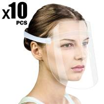 10 Pcs Safety Face Shields with Elastic Band LETOUR Reusable Anti Splash Droplets Face Eyes Protection Anti-Fog Lens Anti-oil Splash Transparent Protect Face Shield Kitchen Outdoor
