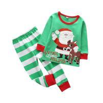 MOLYHUA Kids Pajamas Set Cotton, Girls Boys PJS Set Long Sleeve Pjs Top and Pants Set Cute Xmas Sleepwear