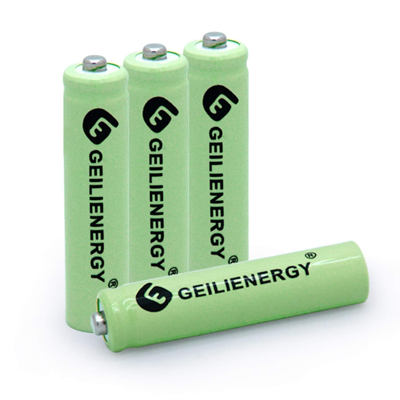 BAOBIAN AAA 600mAh 1.2V NiMH Rechargeable Solar Batteries for Solar Light,Solar Lamp,Garden Lights Green(4 PCS)