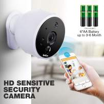 SpotCam Solo AA Battery Powered Indoor & Outdoor Wireless Security Camera 720p HD Wire-Free 2-Way Audio Night Vision Alarm Alert & PIR Motion Sensor w/Built-in SD Slot & 30 Days Free Cloud Recording