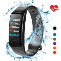 Lixada Fitness Tracker HR,Activity Tracker Watch with Heart Rate Monitor,IP67 Waterproof Smart Fitness Band with Step Counter,Calorie Counter,Sleep Monitoring,Pedometer Watch