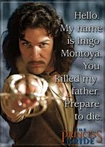 "Ata-Boy The Princess Bride 'My Name is Inigo Montoya' 2.5"" x 3.5"" Magnet for Refrigerators and Lockers"