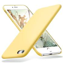 KUMEEK iPhone 6s Plus Case, iPhone 6 Plus Case, Liquid Silicone Rubber with Soft Microfiber Cloth Cushion Protective Case Thin Slim for iPhone 6s Plus/iPhone 6 Plus - Yellow