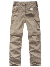Kids Boy's Youth Quick Drying Convertible Pants, Athletic Lightweight Outdoor Hiking Shorts,Travel Cargo Fishing Trousers
