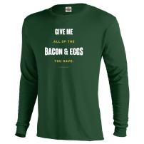 NBC Parks and Recreation Bacon and Eggs Adult Long Sleeve T-Shirt
