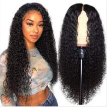 Beauty Forever Malaysian Curly Wigs 13X6 Lace Front Human Hair Wigs Pre Plucked Curly Lace Front Wig with Baby Hair For Black Women Virgin Hair (16, 150% Density)