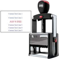 Date Stamp Self Inking Heavy Duty - ExcelMark (R800 Red & Blue Ink)