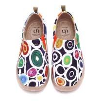 UIN Women's Lightweight Slip Ons Sneakers Walking Flats Casual Flower Art Painted Travel Shoes Oopsie Daisy