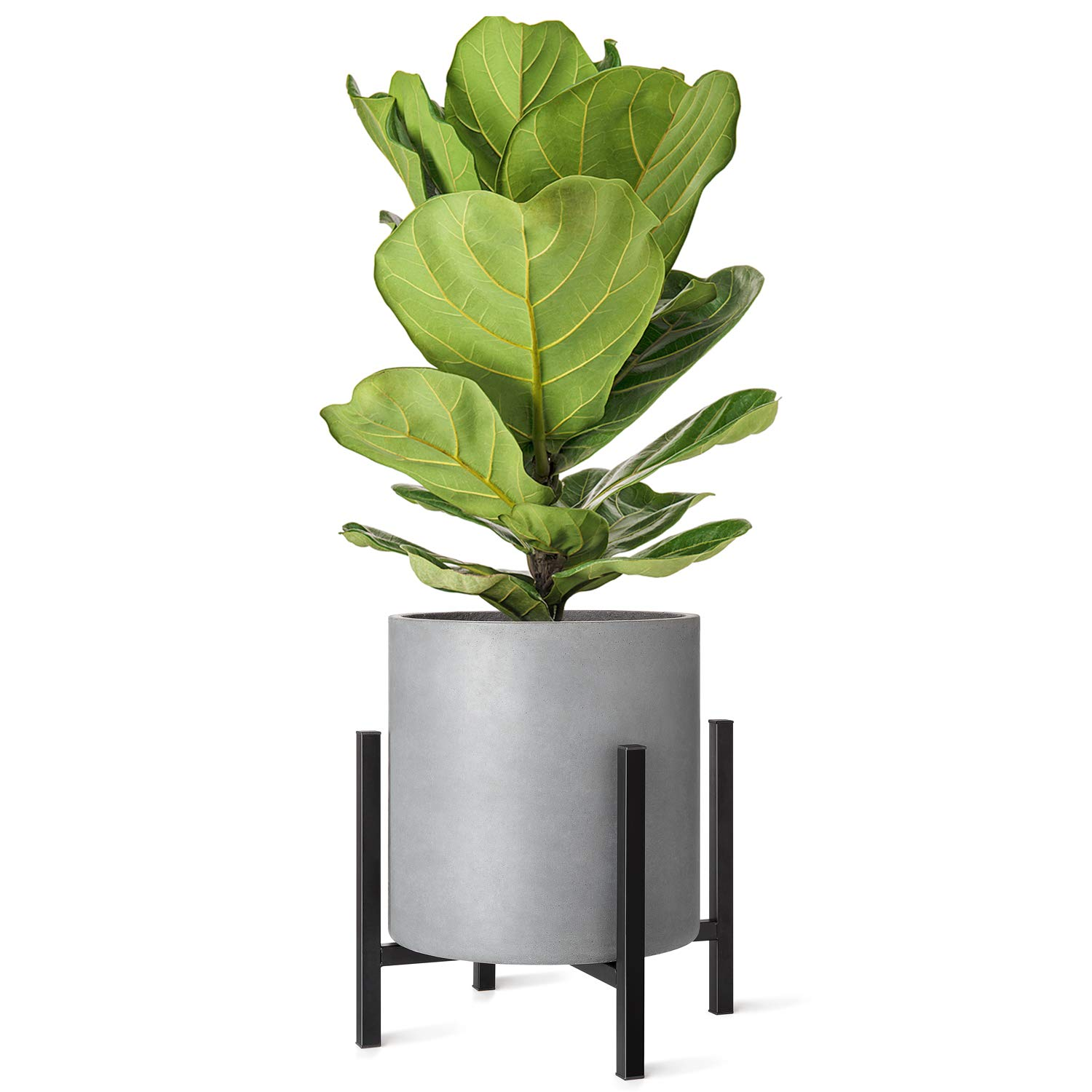 Mkono Plant Stand Mid Century, Fits Up to 14 Inch Planter (Plant Pot Not Included) Tall Flower Pot Stands Indoor Outdoor Metal Potted Plant Holder, Plants Display Rack