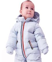 GIRL MELODY Unisex Baby Romper White Duck Down Onesies Baby Winter Coat for 5-32 Months Baby