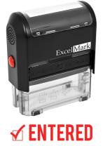 Entered - ExcelMark Self-Inking Rubber Stamp - Red Ink A1539
