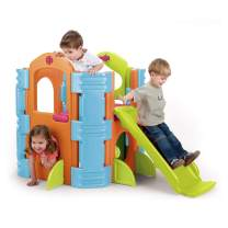 ECR4Kids Activity Park Playhouse for Kids - Indoor or Outdoor Playground with Slide or Stairs - Climb and Hide