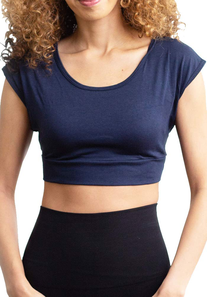 HALFTEE Cap Sleeve Layering Tee | Demi Cami for Women & Teens | Cute Crop Top | XS-6X |