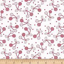 Maywood Studio Red Kimberbell Basics Cheerful Cherries Fabric by The Yard