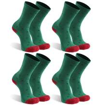 Facool Women's Men's Christmas Socks Athletic Cushion Hiking Camping Running Walking Crew Socks 1,4,6 Pairs