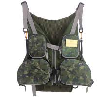 Fly Fishing Vest Pack Adjustable Breathable Outdoor Activity Vest with Retractable Spring Coil Kit for Men and Women
