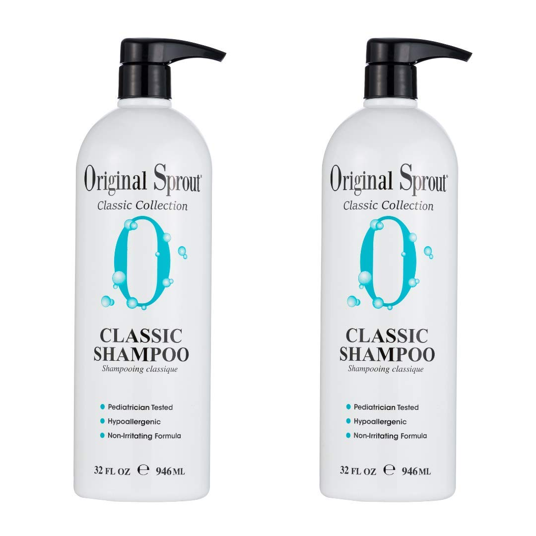 Original Sprout Natural Shampoo. Organic Sulfate Free Shampoo for All Natural Hair Care. 32 Ounces. 2 Pack. (Packaging May Vary)