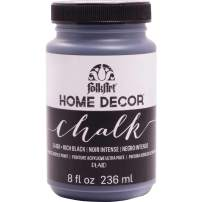 FolkArt 34169 Home Decor Chalk Furniture & Craft Paint in Assorted Colors, 8 ounce, Rich Black
