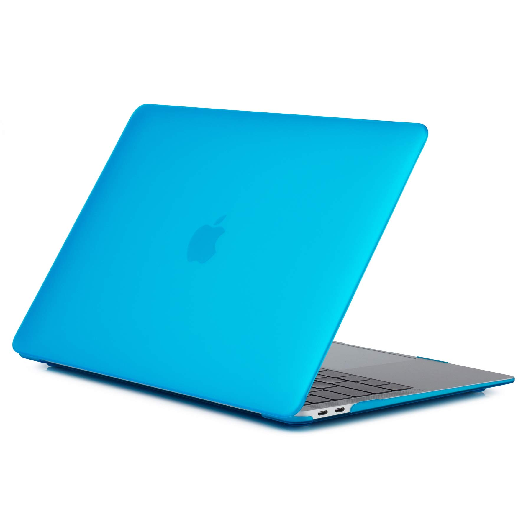 Se7enline New MacBook Air 2018 Case 13 inch Frosted Plastic Hard Shell Laptop Carrying Case Cover for MacBook Air 13-Inch with Retina Display with Touch ID Model A1932 2018/2019 Version, Aqua Blue
