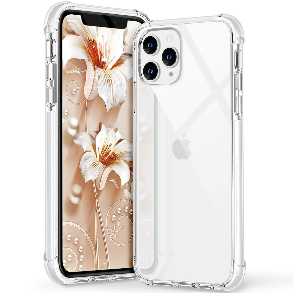 MATEPROX 11 Pro Max Case Clear Heavy Duty Protective Crystal Back Cover with Shockproof Bumper Case for iPhone 11 Pro Max 6.5 inch(Clear White)