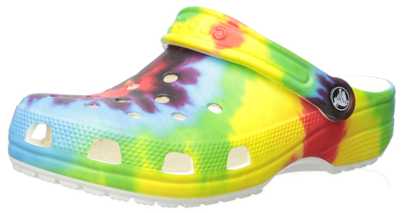 CROC Kids Classic Tie Dye Clog | Slip on Water Shoe for Toddlers