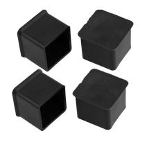 Flyshop Chair Leg Caps Furniture Table Covers Floor Protectors Anti-Slip Rubber Tips Square 4 Pack,25mm,1 inch