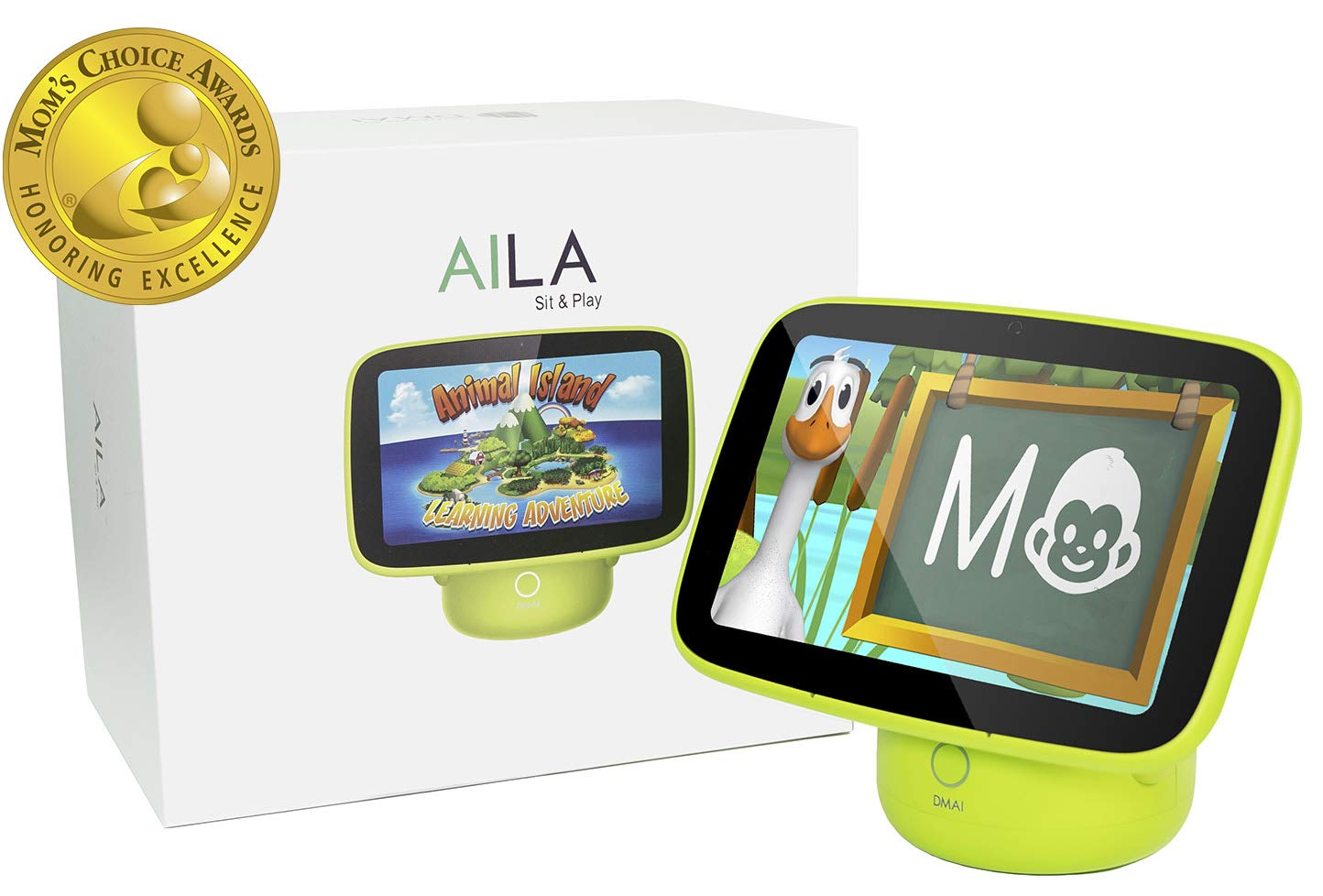 DMAI Aila Sit & Play Intelligent Monitor & Edutainment System Mom's Choice Award Gold Winner-Virtual Preschool Program Essential for Toddlers (12+ Months) Best Baby Gift for Early Childhood Education
