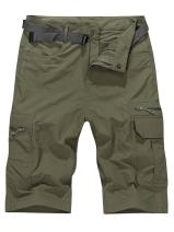 Men's Outdoor Casual Lightweight Water Resistant Quick Dry Cargo Fishing Hiking Shorts