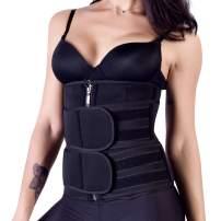 Waist Trainer Hot Sweat Corset for Women Adjustable Rows Hook/Zipper Corset Shapewear Slimming Shaper Girdle Belt