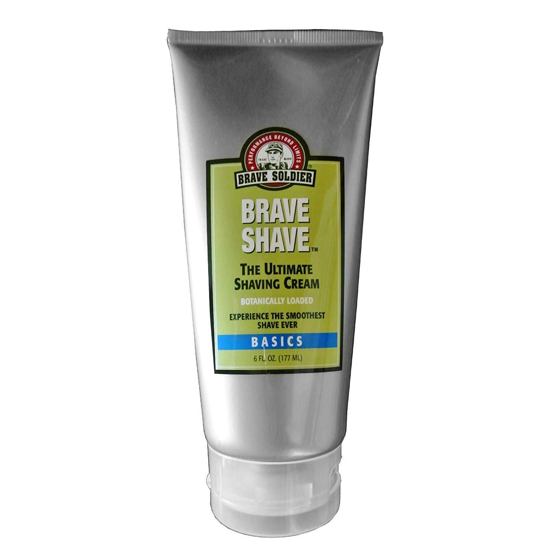 Brave Soldier, Brave Shave Ultimate Shaving Cream, Loaded with natural ingredients, safe for both men and women 6 fl. oz, 177ml
