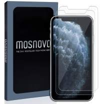 MOSNOVO Premium Glass Screen Protector for iPhone 11 Pro/iPhone Xs/iPhone X [Guidance Frame Include] (Pack of 2) [Easy Install][Anti Scratch][Advanced HD Clarity][Bubble Free][Case Friendly]