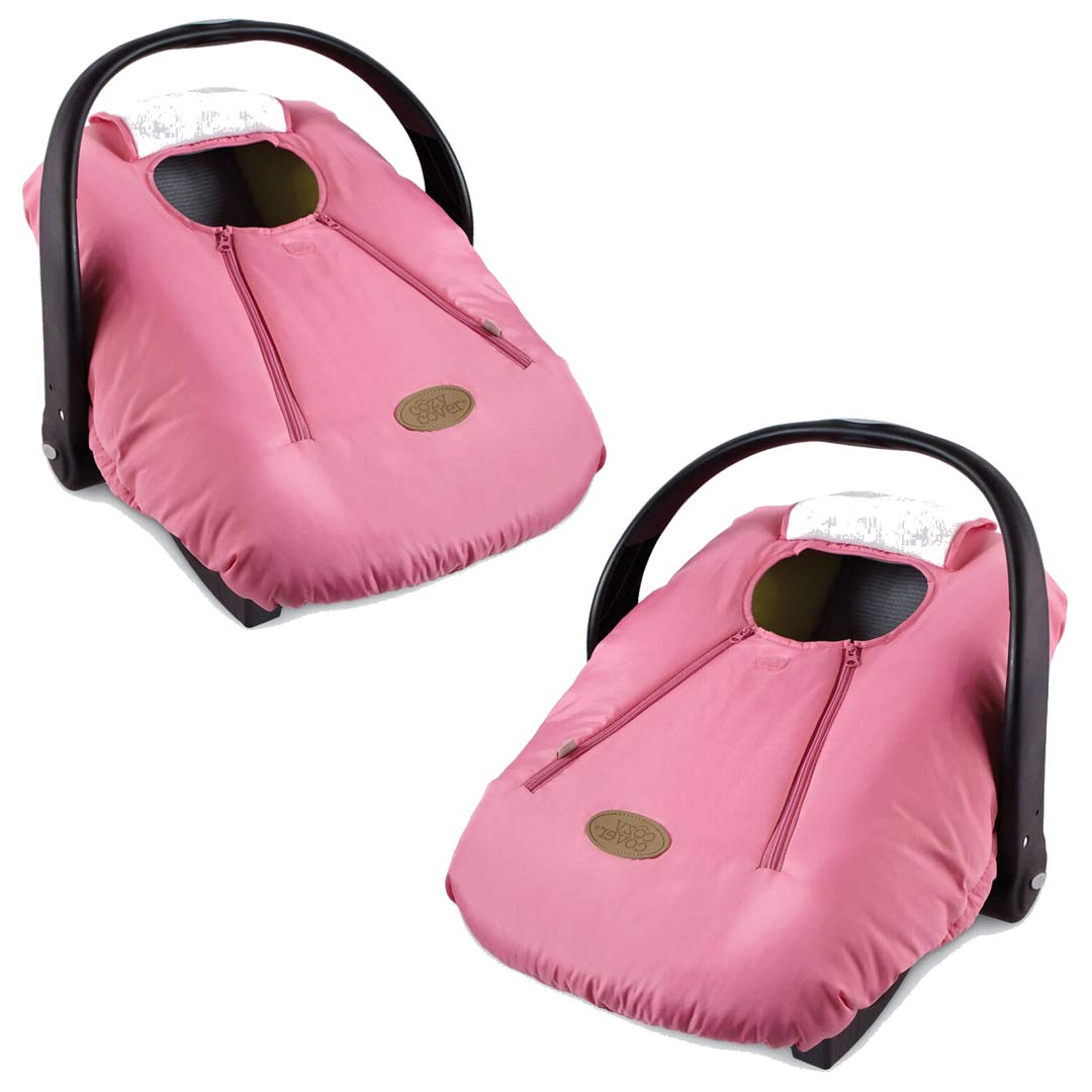 Cozy Cover Infant Car Seat Cover (Pink) - Industry's Leading Infant Carrier Cover Trusted by Over Millions of Moms Worldwide for Keeping Your Baby Cozy and Warm