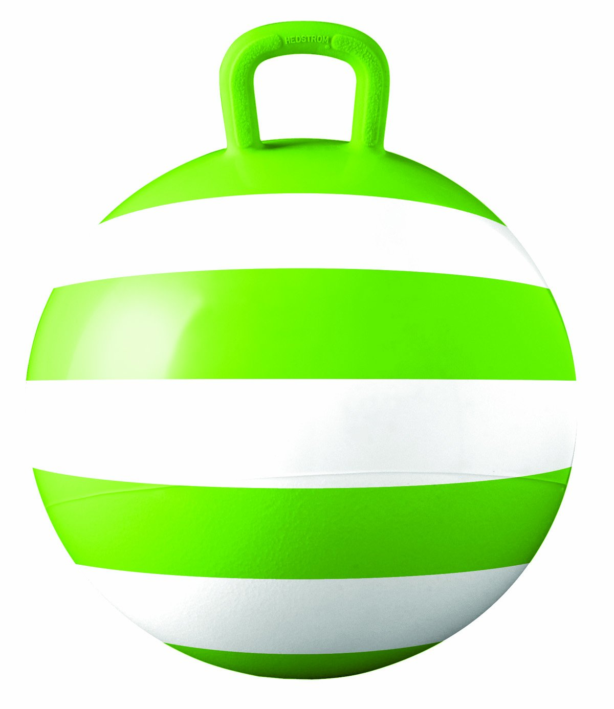 Hedstrom Green Striped Hopper Ball, Kid's Ride-on Toy, Bouncy Hopping Ball with Handle - 15 Inch