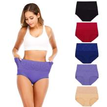 Senllori High Waist Tummy Control Panties for Women Cotton Underwear Shapewear Ladies Brief C-Section Recovery