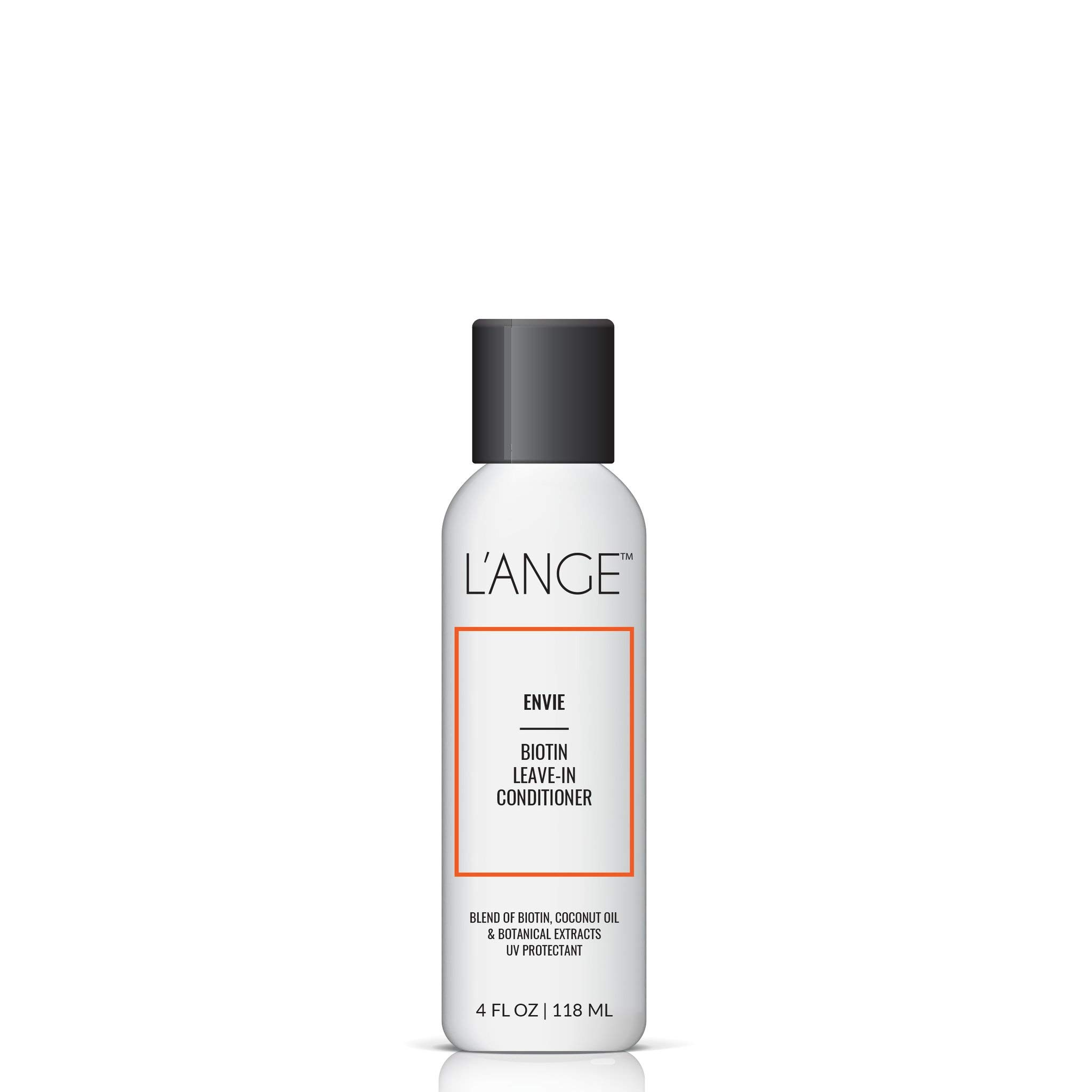L'ange Hair ENVIE Leave-In Conditioner - Biotin, Coconut Oil & Botanical Extracts - Professional Salon Grade Natural Treatment for Hair - Anti-Frizz Blowout Care - UV Protectant, 4 Fl Oz, MSRP $30.00