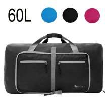 Dimayar Duffle Bag 60L Travel Duffle Bag for Men&Women Waterproof Duffle Black